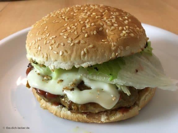 Ein fertiger Burger