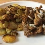 Bratkartoffeln mit Gyros und Zwiebeln