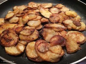 Bratkartoffeln in der Nahaufnahme