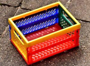Einer der besten Einkaufstipps: Benutzt wiederverwertbare Kisten für die Lebensmittel