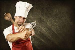 Der kann kochen mit Löffel