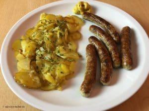 Nürnberger Würstchen mit Bratkartoffeln