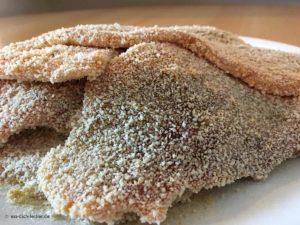 Panierte Schnitzel - Nahaufnahme