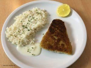 Filetspitzen mit Langkornreis und heller Soße