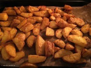 Kartoffelspalten im Ofen