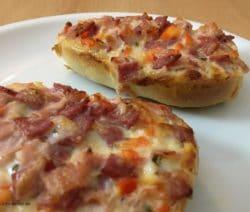 Pizza Brötchen Nahaufnahme